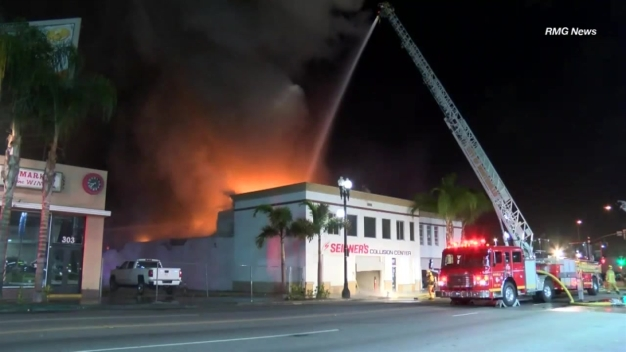 Watch: Fire Towers Over Montebello Business