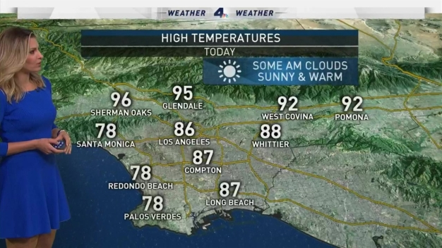 AM Forecast: Hot, Breezy Temps