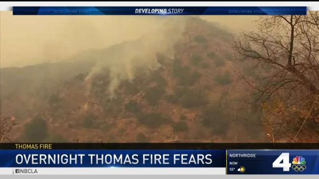 Wind-Fueled Thomas Fire Still Scorching Strong