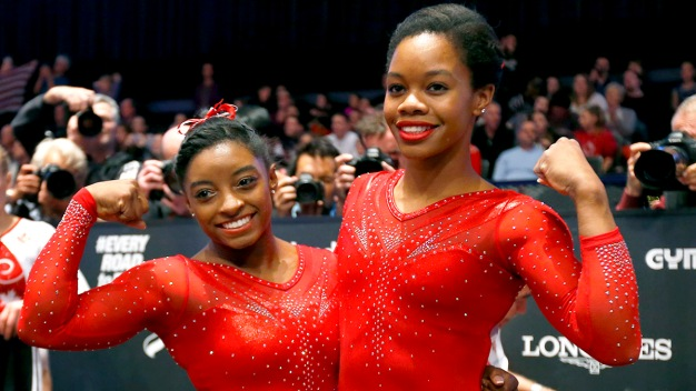 Simone Biles Reacts to Gabby Douglas' Controversial Message
