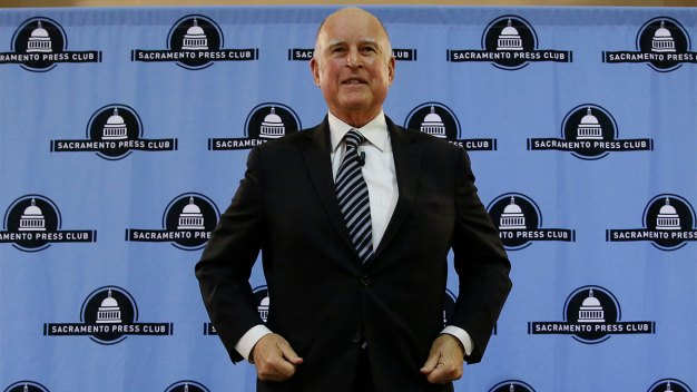 Gov. Brown Talks Health Care, 4 Terms in Office