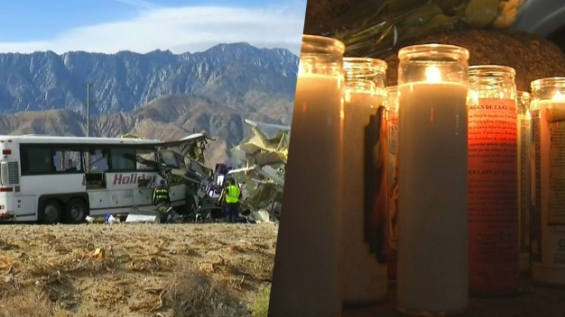 Memorial Grows for 13 Killed in Palm Springs Tour Bus Crash