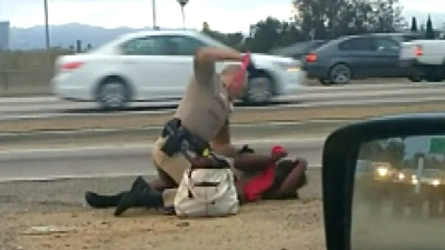 CHP Officer Who Beat Woman Stripped of Duties