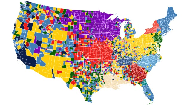 Top-Searched Playoff Teams by County