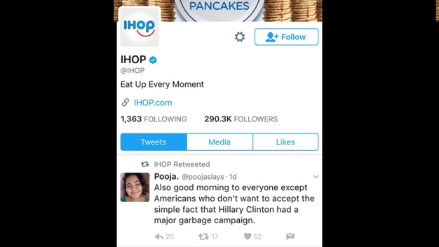 IHOP Says Twitter Account Hacked