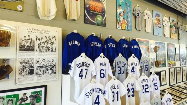 Dodgers Pop-Up Museum '60 Years in LA' Opens