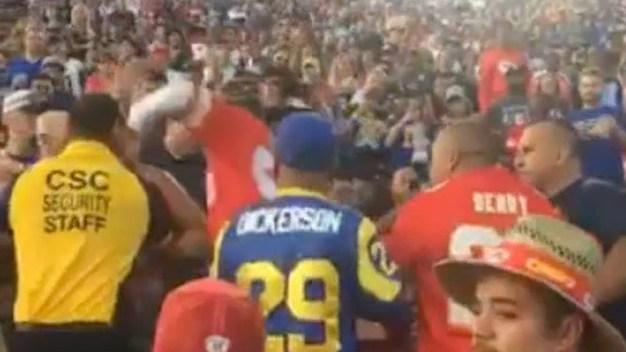 NFL Return to Coliseum Also Brings Back Grandstand Brawls