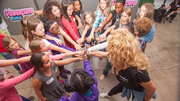 100 Girls Celebrate Powerpuff Day and Girl Empowerment