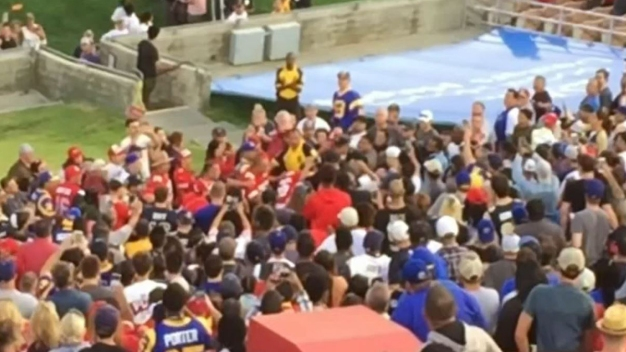 Stadium Brawl at Rams Game
