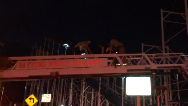 Fire Dept Rescues Stranded Roller Coaster Riders