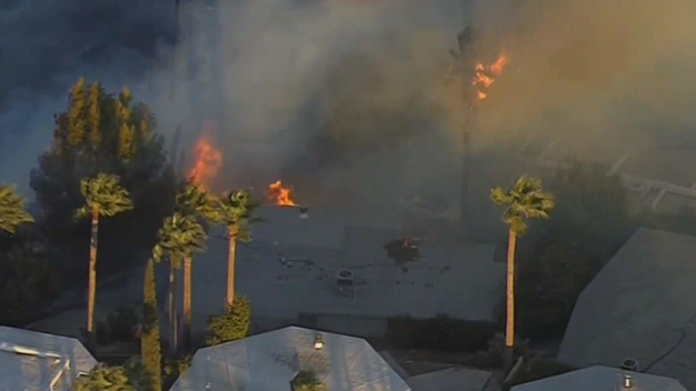 Brush Fire in San Bernardino Area Burns Homes