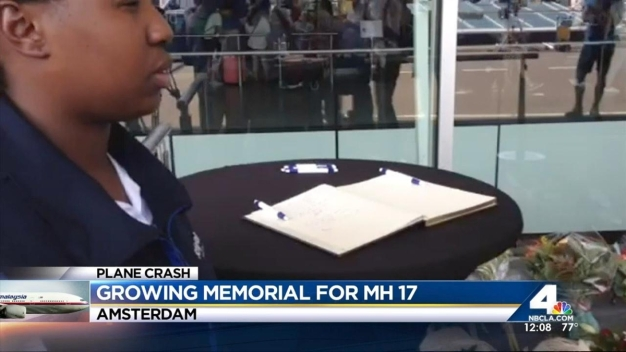 Memorial for MH17 Victims at Amsterdam Airport
