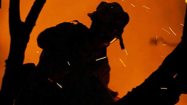 Firefighters Attack Brush Fire in Riverside County