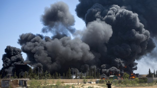 Fuel Tanks Hit at Gaza's Only Power Plant