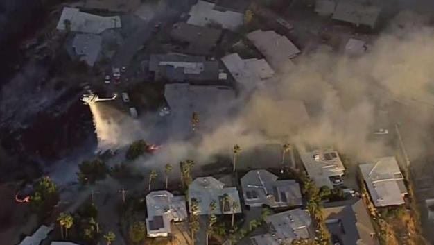 Little Mountain Fire Leaves Burned Houses Behind