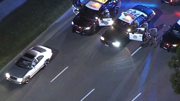 Two in Custody After Mercedes-Benz Chase in Orange County