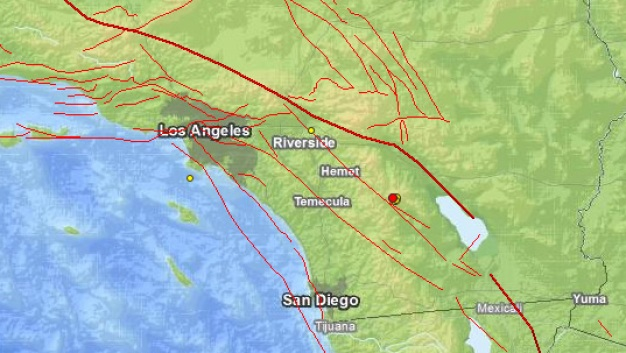 Magnitude-3.5 Quake Strikes Near Site of Anza Temblor