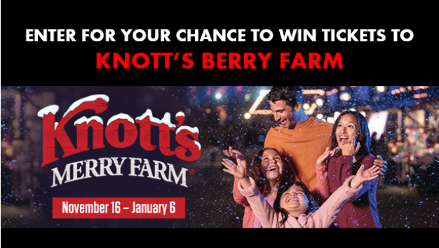 Knott's Berry Farm Holiday 2018 Sweepstakes