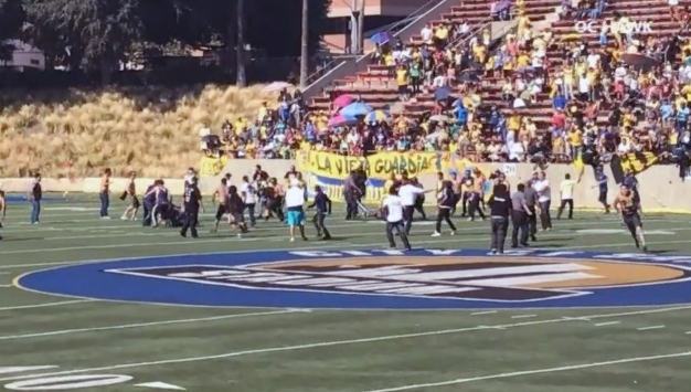 Watch: Fan Fight Breaks Out at Soccer Game