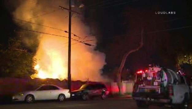 Two People Rescued, Two Dogs Killed in Compton Fire
