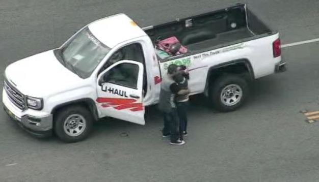 U-Haul Pursuit Ends With a Kiss and Hug After Standoff