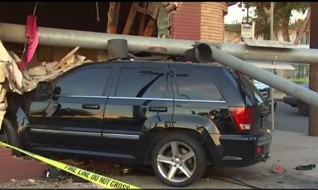 Hit-and-Run Driver Topples Light Pole Onto Church