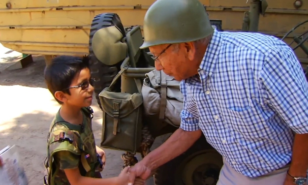 7-Year-Old History Buff Meets Real-Life War Heroes