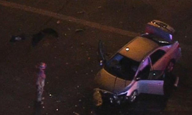 4 Injured After Pursuit Car Crashes in Palmdale