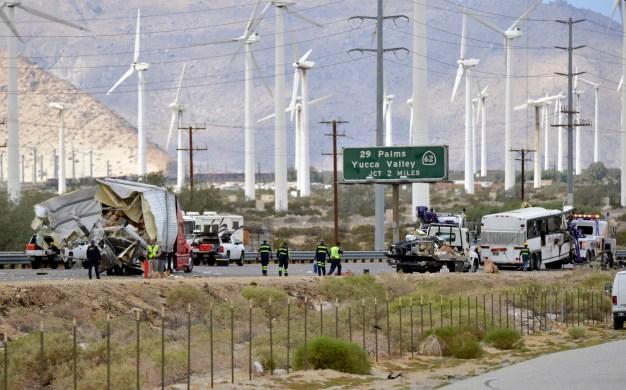Tour Bus Crash Kills 13 in Southern California