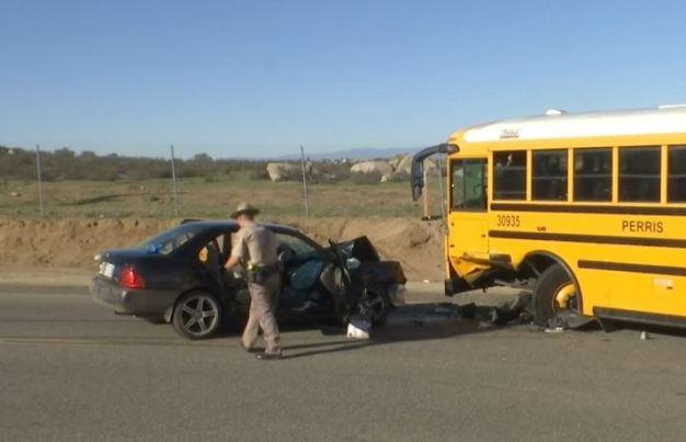 Two Injured in Menifee School Bus Crash
