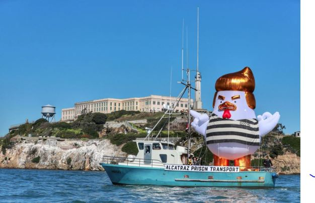 'Trump Chicken' Spotted Cruising Near Alcatraz, Pier 39 in San Francisco