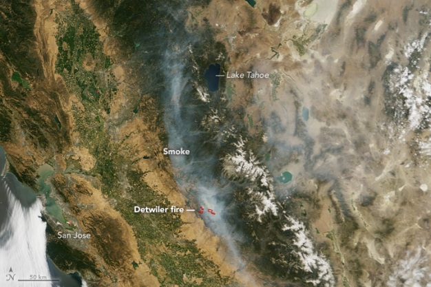 Smoke and Fire From Above: Wildfire Images From Space