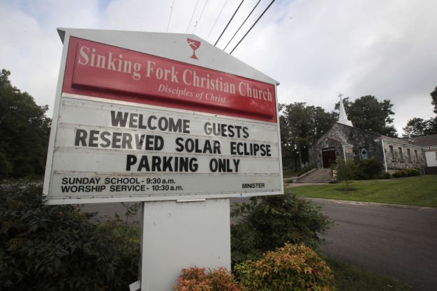 'Eclipse Parking Only': Photos From the Path of Totality