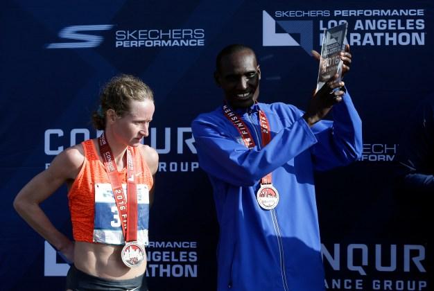 Weldon Kirui, Natalie Lehonkova Win 2016 LA Marathon