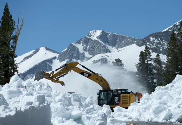Snowplows in June? Look at All That Snow in CA's Mountains