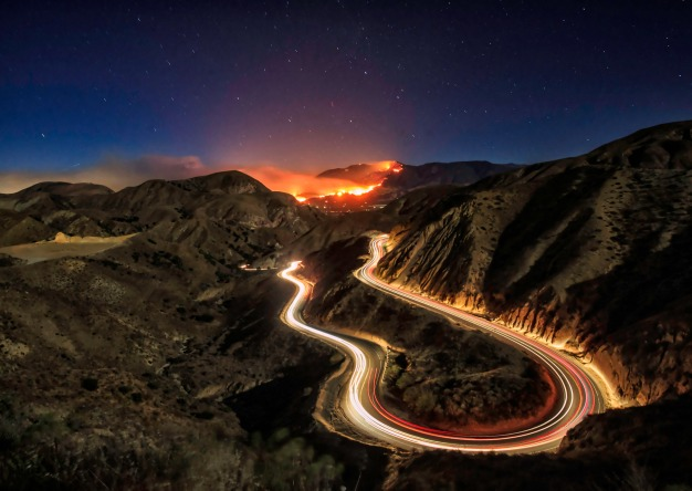 The Thomas Fire as Seen From Around Southern California