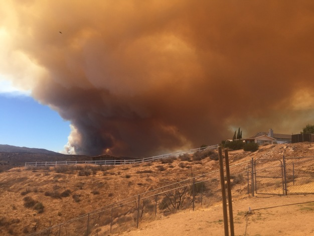 Blue Cut Wildfire Burns in Cajon Pass