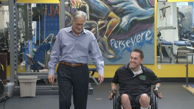 Paralyzed Man Helps Others to Help Him Heal