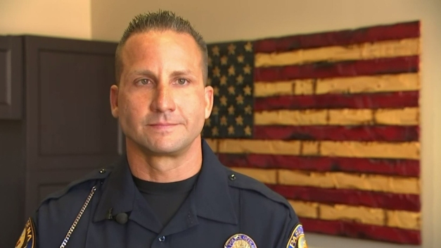 Officer Helps Talk Woman Down Off of Pasadena Bridge