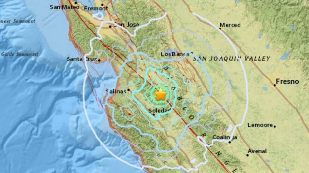 Magnitude 4.7 Earthquake Strikes in Monterey County