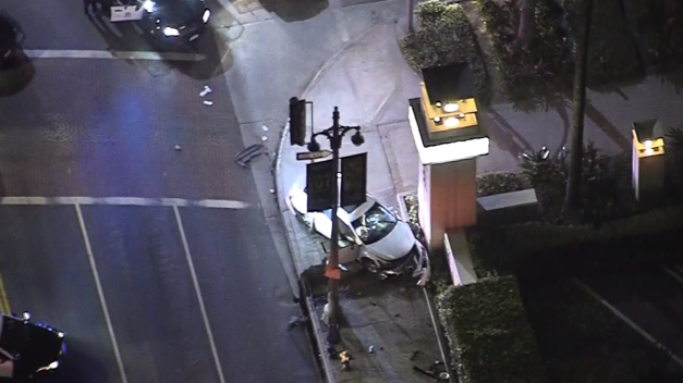 Pursuit Ends in Crash at Union Station
