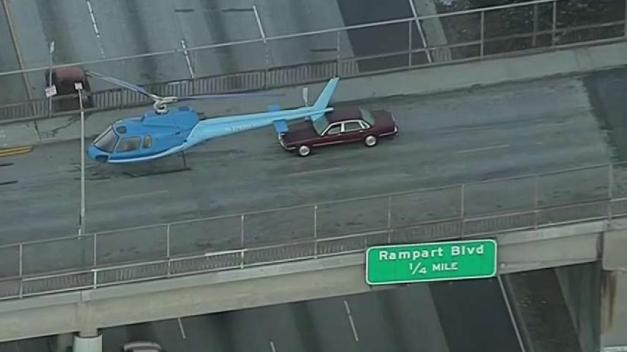 Why This Helicopter Was on a 101 Freeway Overpass