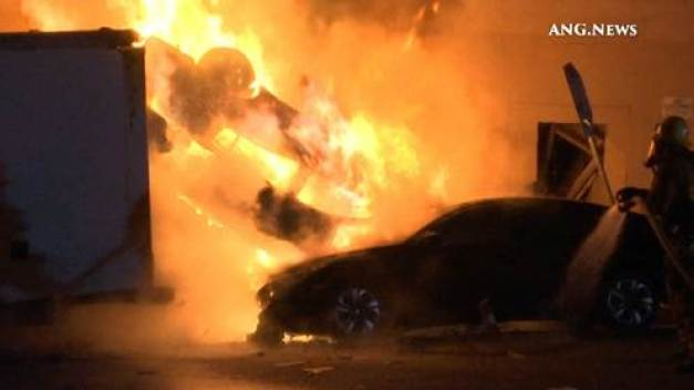 Woman Killed in Fiery Crash in Westllake District