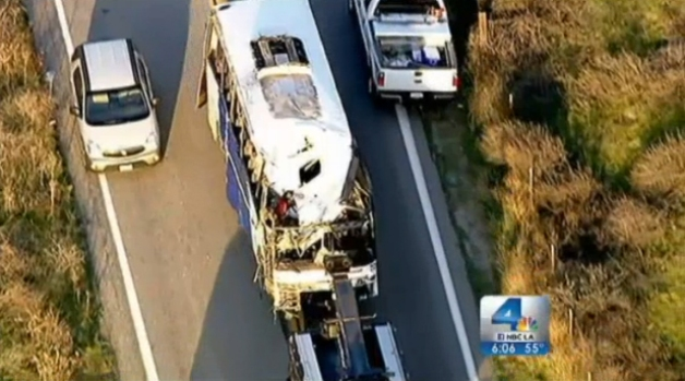 [LA] Deadly Bus Crash Calls Seat Belt Rules Into Question