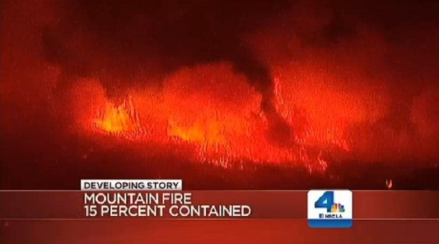 [LA] Windy Friday Expected Near Mountain Fire