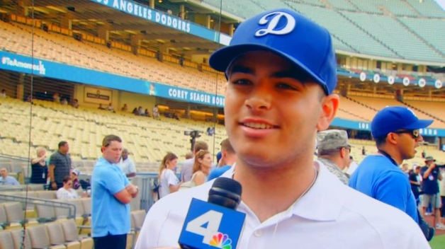 Cancer Patient Takes Field at Dodgers' Batting Practice