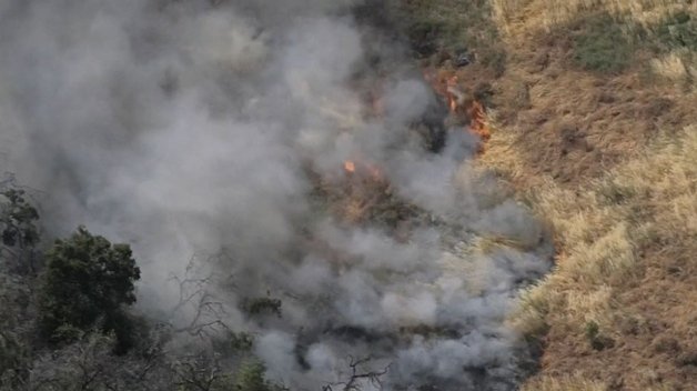Crews Douse Brush Fire in Montecito Heights
