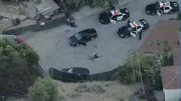 Police Pursuit Ends With Arrest Above Hollywood Bowl