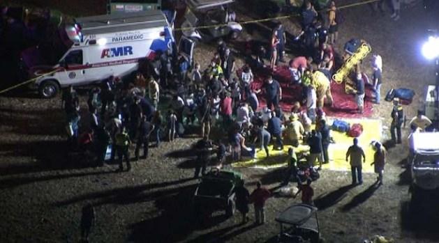 """[NATL-V-LA] """"Everything Exploded"""": Fireworks Mishap Hurts Dozens"""