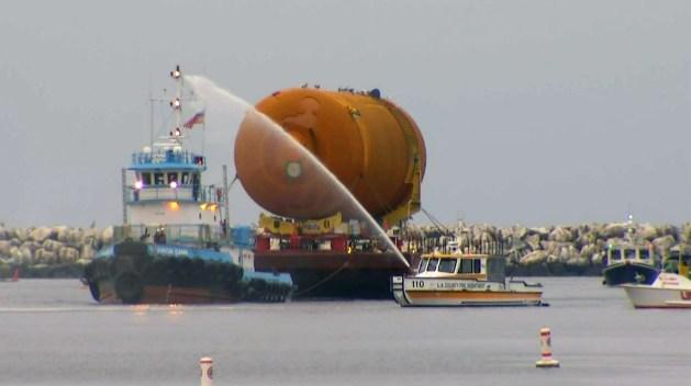Shuttle Fuel Tank Arrives for Final Leg of Journey